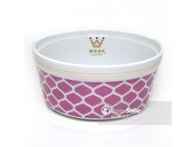 Comedouro Woof Classic Gota Pink