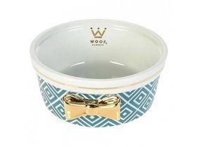 Comedouro Woof Classic Woofland Laço Azul