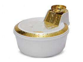Fonte Automática Petlon Premium Dourada Branca