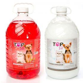 Kit Shampoo Neutro Frutas Vermelhas e Condicionador Green Top Vet