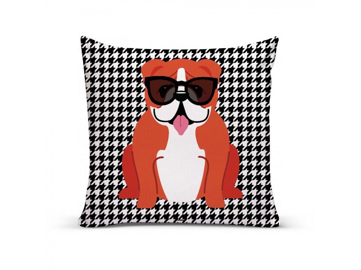 Almofada com Capa Personalizada Bulldog Inglês