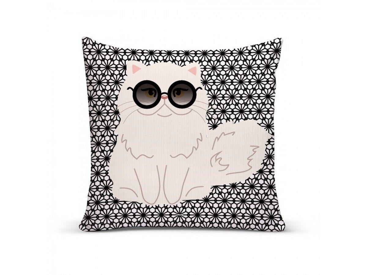 Almofada com Capa Personalizada Gato Persa