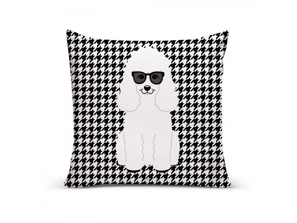 Almofada com Capa Personalizada Poodle