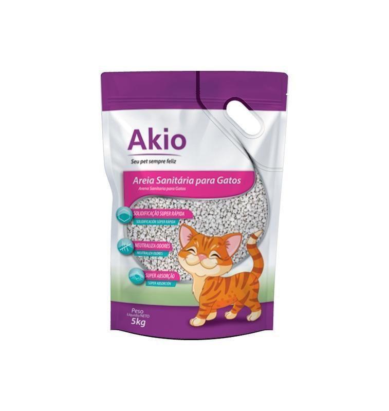 Kit com 4un de 5kg Areia Sanitária Bentonita Premium para Gatos