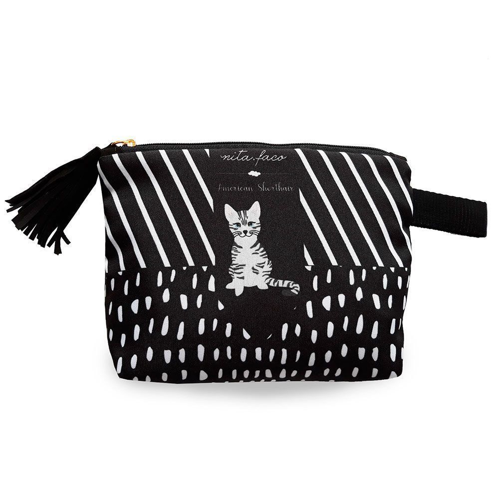 Bolsa Clutch Gato American Shorthair