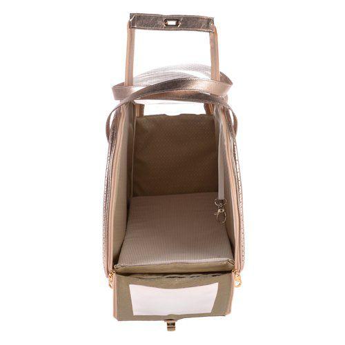 Bolsa Woof Classic Matelassê Rosa para Transporte Pet