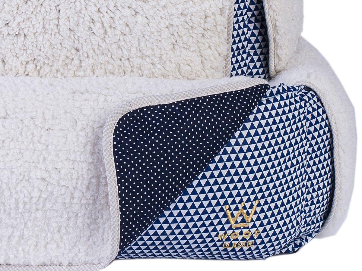 Cama com Capa Woof Classic Triângulo Azul