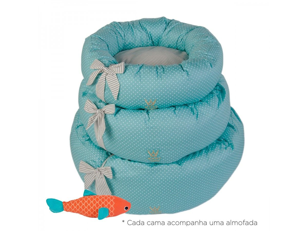 Cama Fofinha Woof Classic Deep Poá Tiffany