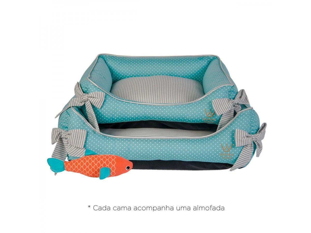 Cama Woof Classic Deep Laço Poá Tiffany