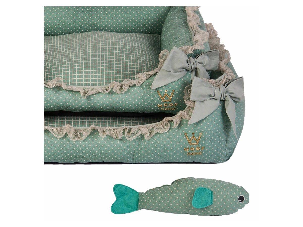 Cama Woof Classic Deep Laço Renda Tiffany