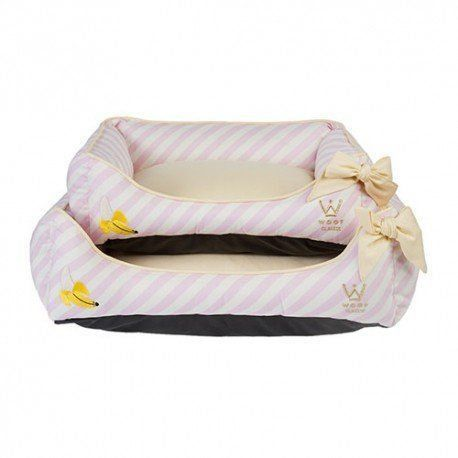 Cama Woof Classic Summer Party Laço Rosa Banana