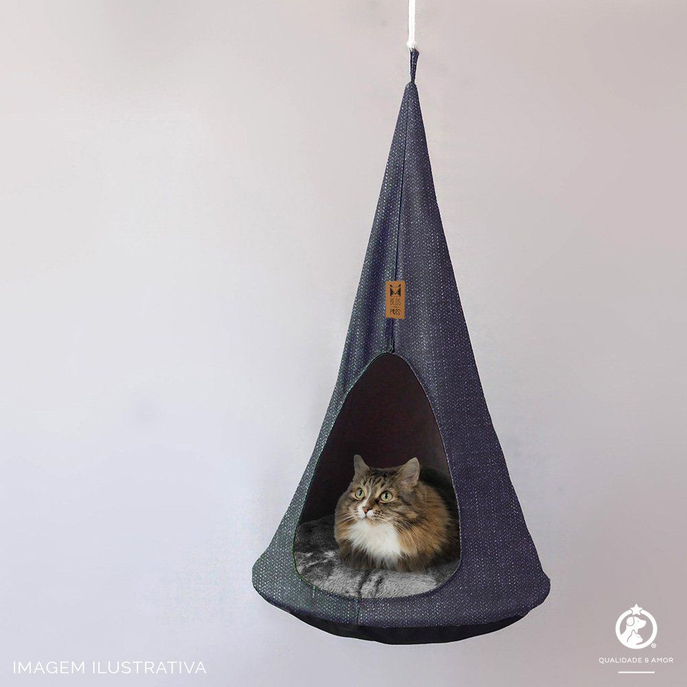 Caminha Suspensa para Gatos Cat Cocoon Grey Beds for Pets