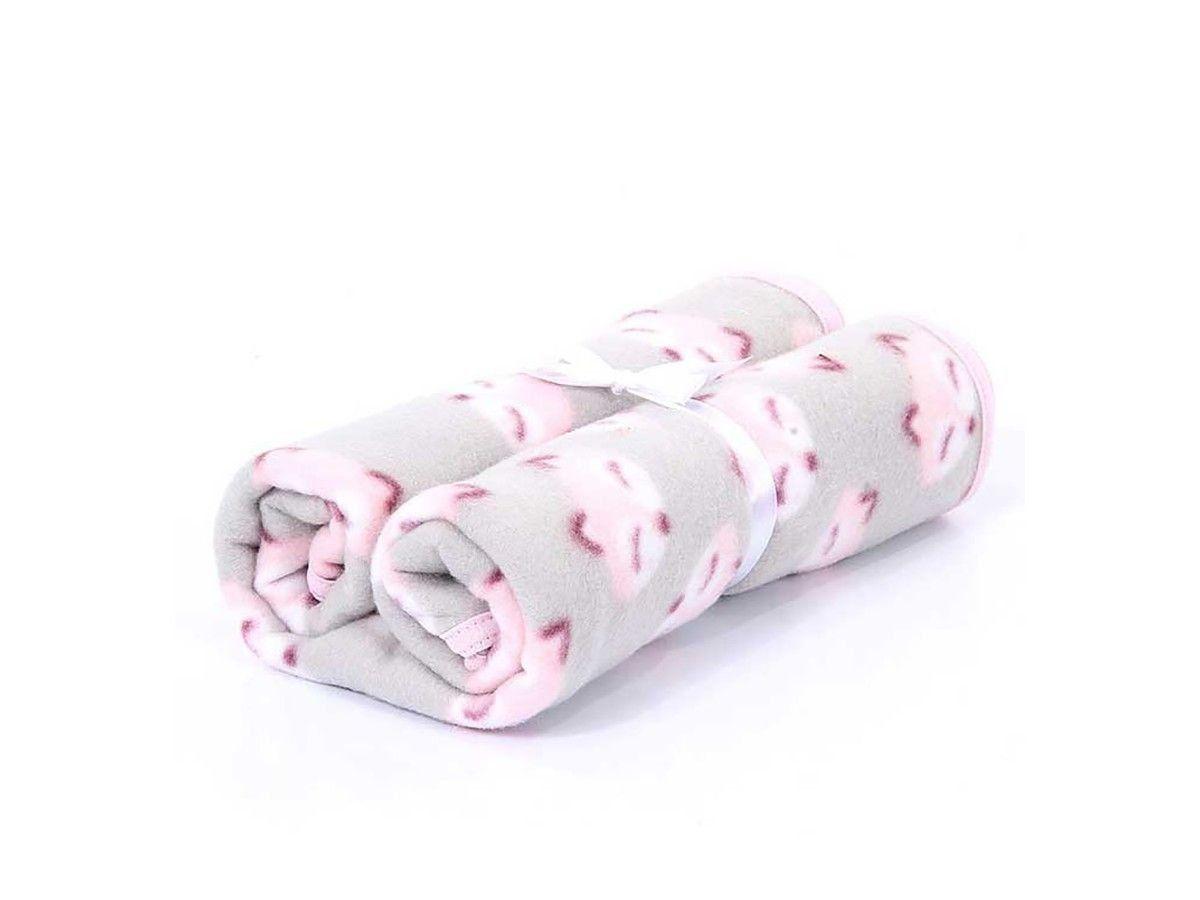 Cobertor Pet Manta Soft Premium Raposa Rosa