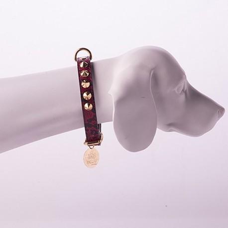 Coleira com Strass Woof Pet Cobra Vermelha 12 (P)