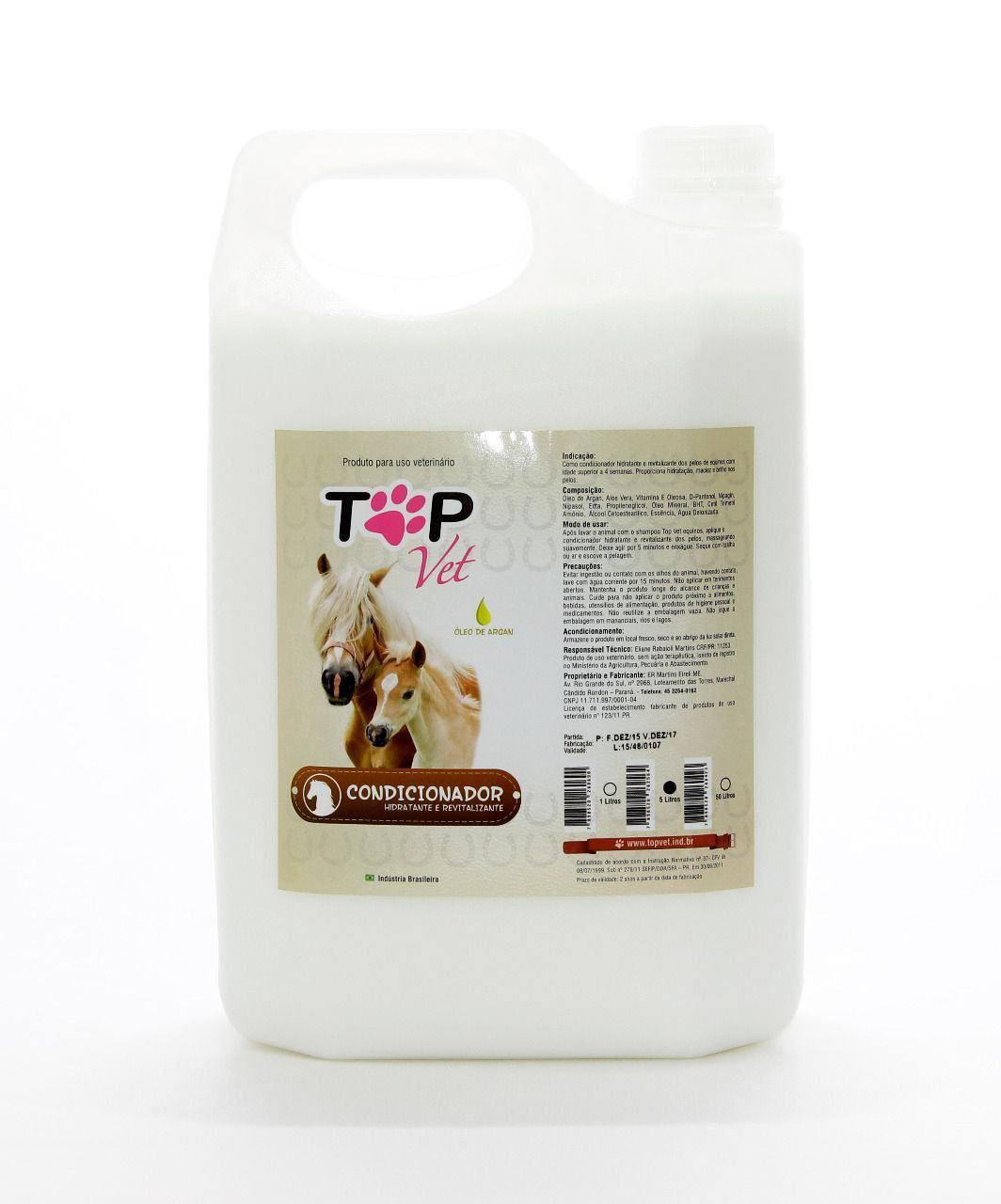 Condicionador para Cavalos Top Vet 5L