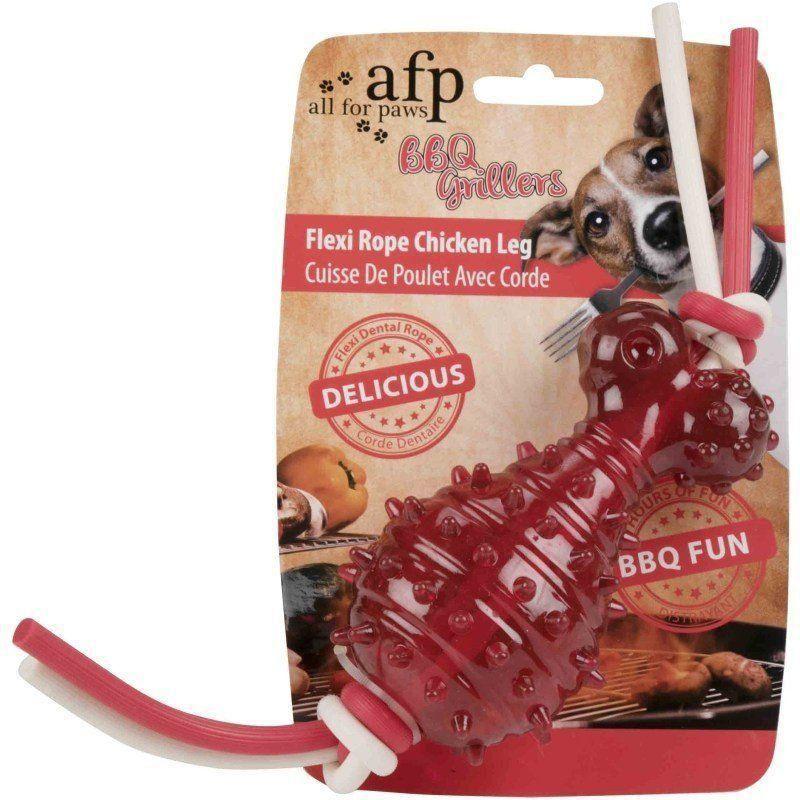 Brinquedo Mordedor em TPR Rope Chicken AFP