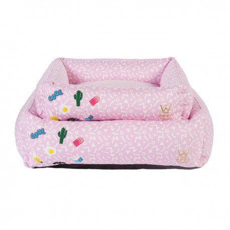Kit Cama Woof Classic P + Edredom Patches Rosa