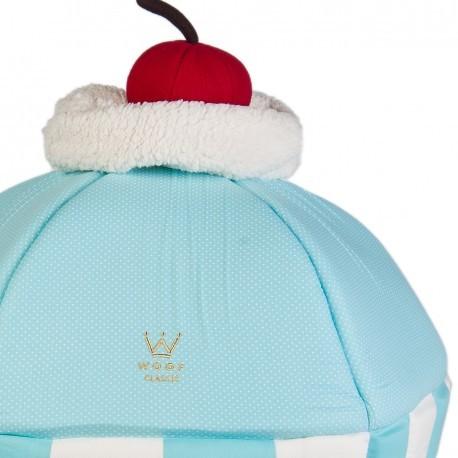 Kit Caminha Cupcake + Tigelas Azul Bebê Woof Classic