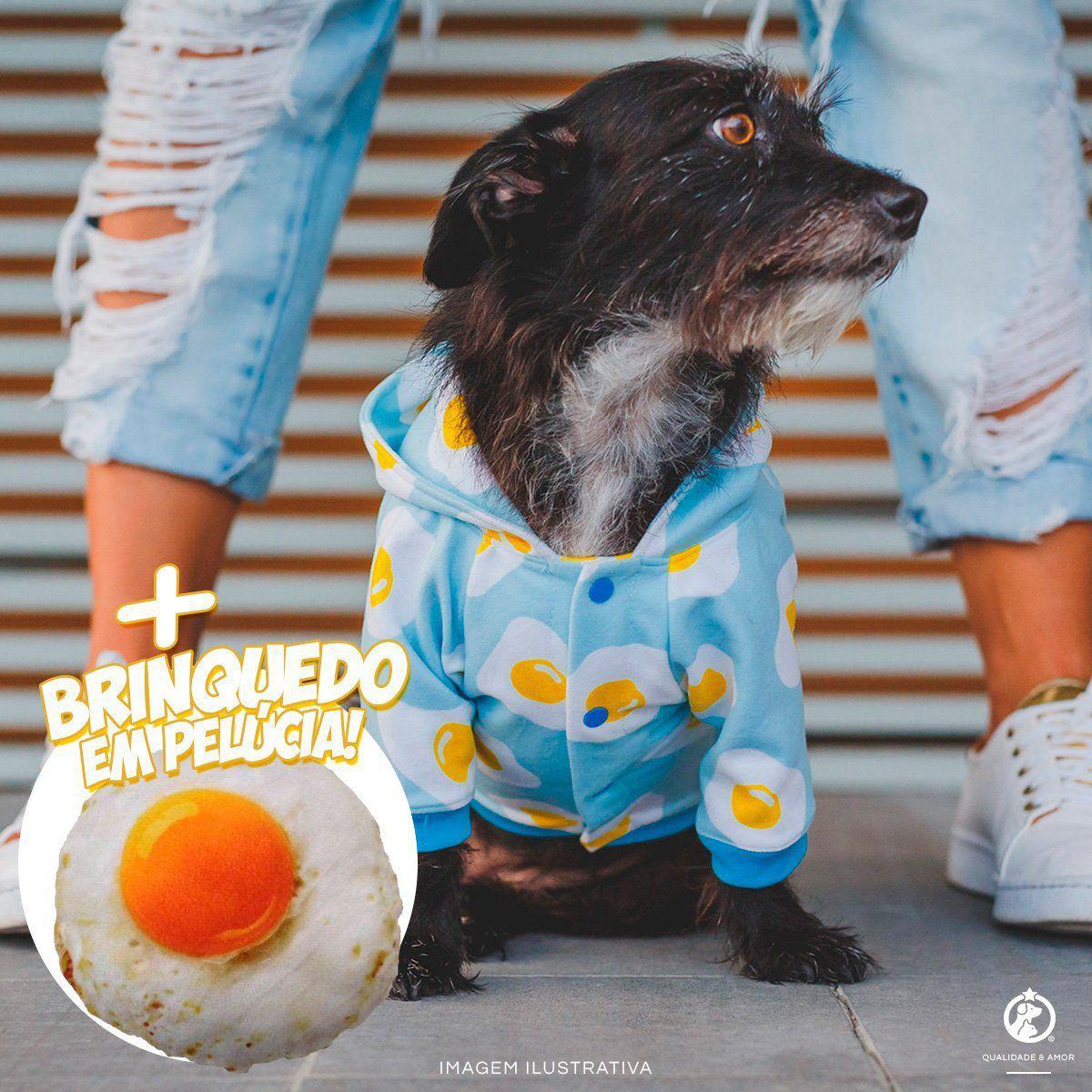 Kit Casaco Egg Santo Amigo + Pelúcia Ovo Frito