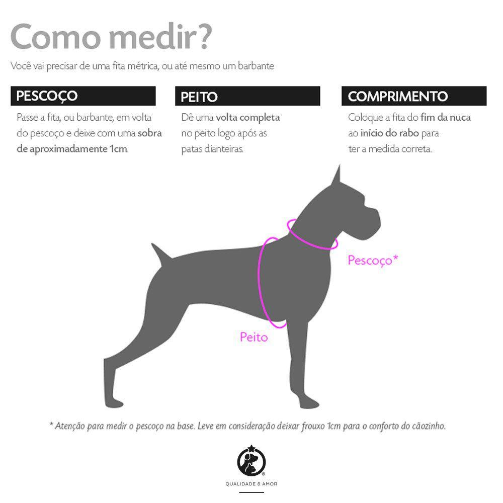Kit Coleira Peitoral + Guia Mulher Maravilha™ para Cachorros