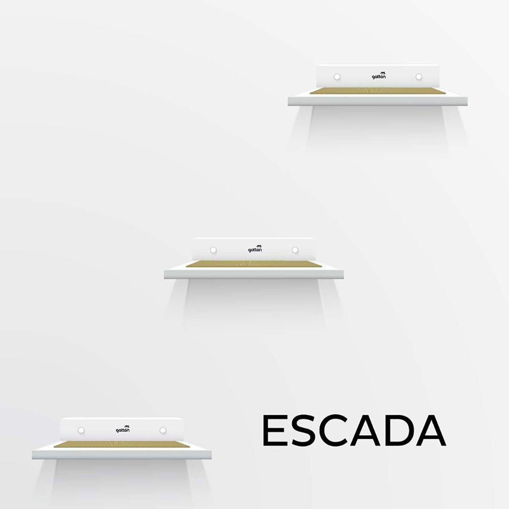 Kit de Prateleiras em Escada Homecat Gatton Branca