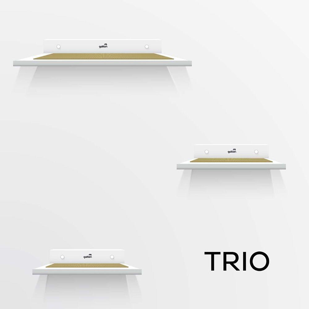 Kit de Prateleiras Trio Homecat Gatton Branco