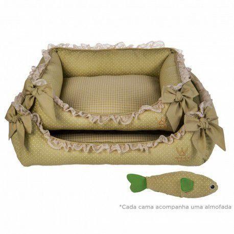 Kit Especial Cama Laço M Woof Classic Deep II Verde