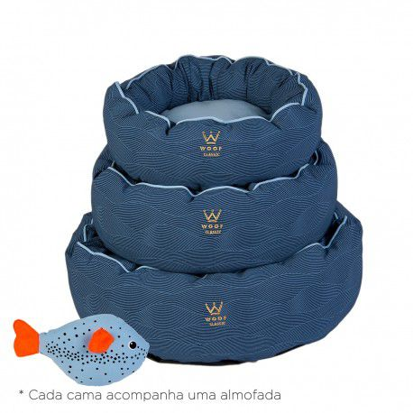 Kit Especial Fofinha Woof Classic Deep Marinho - G
