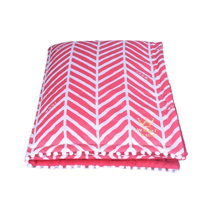 Kit Fofinha Woof Llama + Jogo Americano + Tigelas + Manta Pink