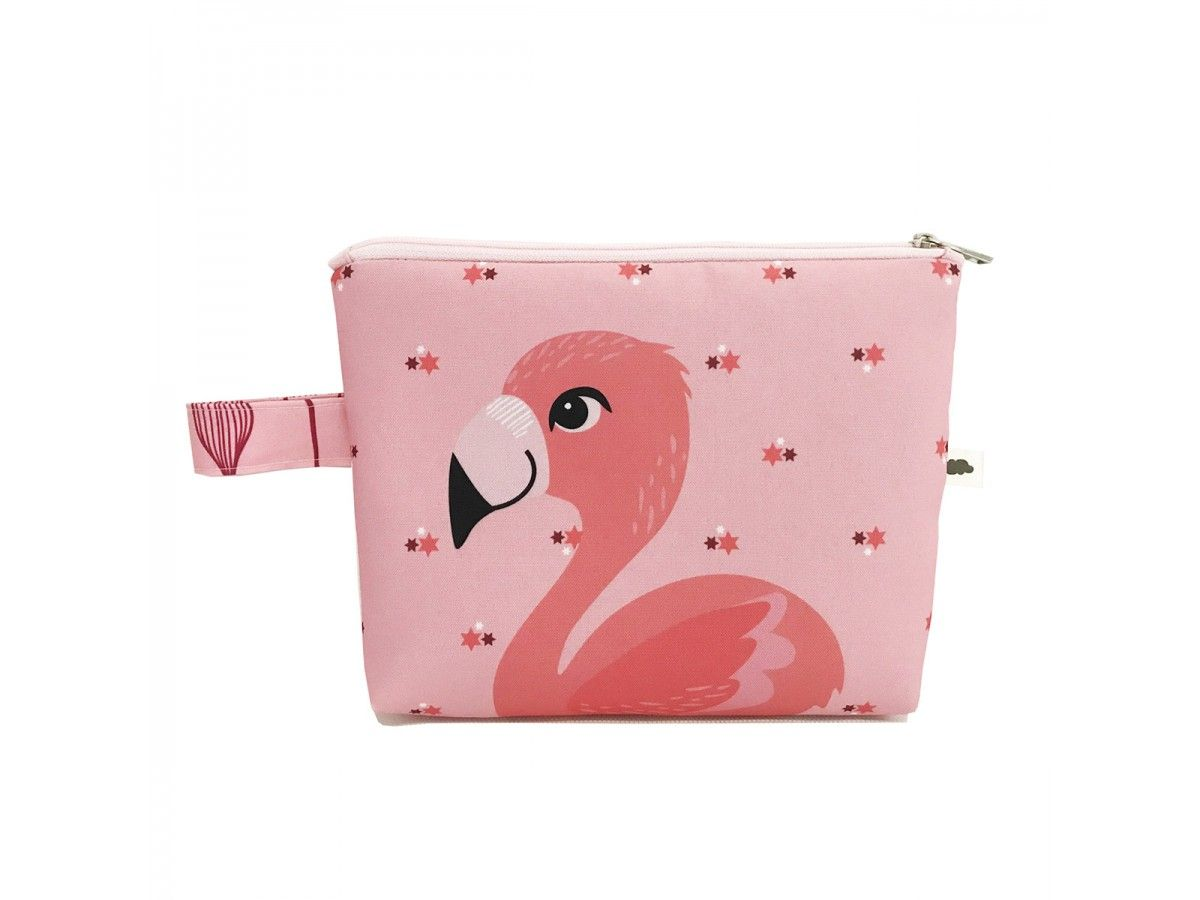 Kit Necessaire + Estojo Flamingo Flora
