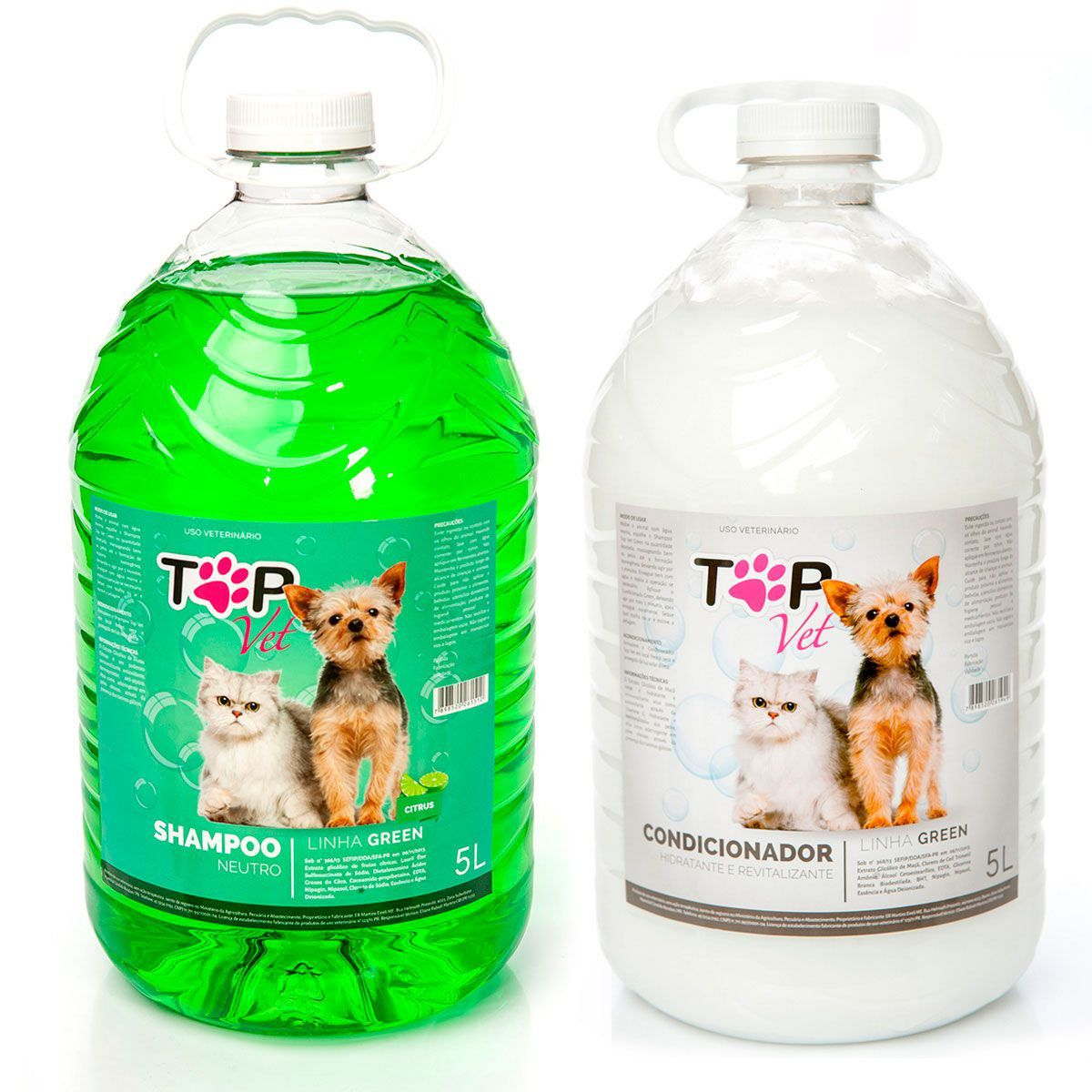 Kit Shampoo Neutro Citrus e Condicionador Green Top Vet