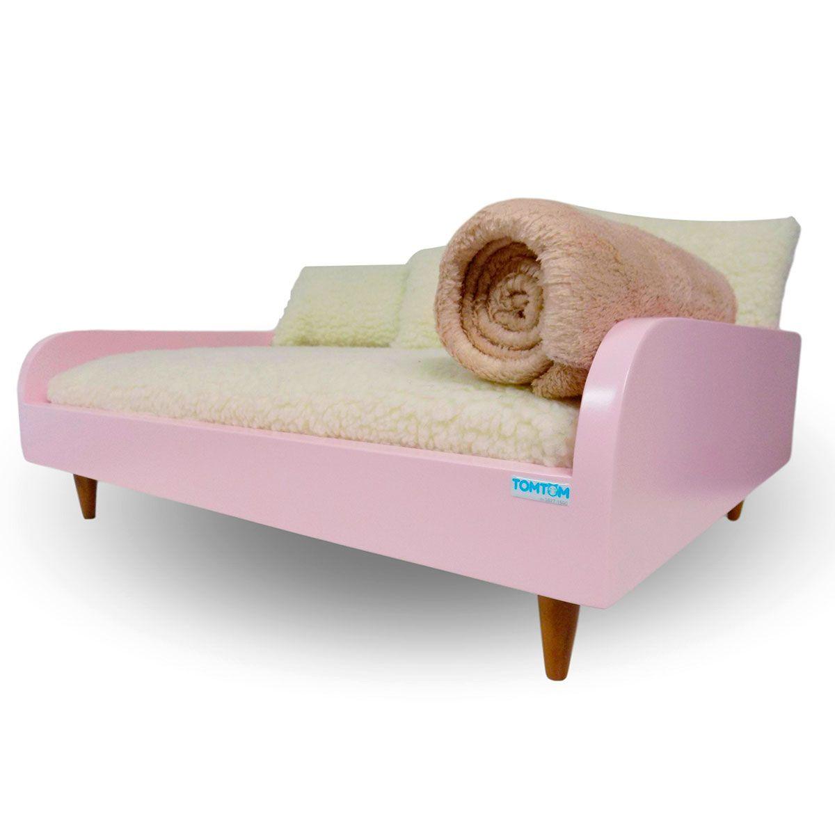 Kit Sofá Tomtom Pet Conceito Rosa Bebê