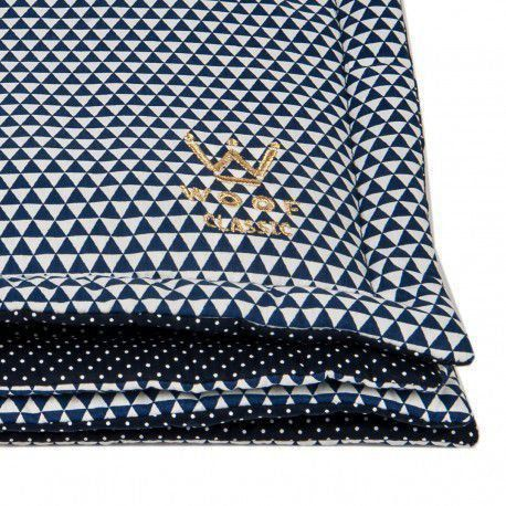 Manta Edredom Woof Triângulo Azul