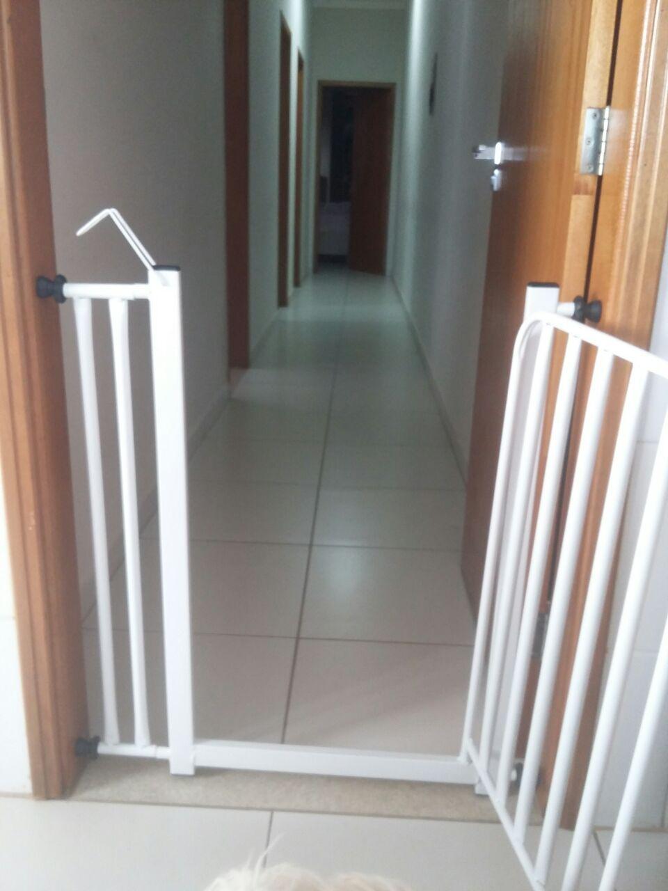 Portão Pet Tubular de 70cm + Prolongador 10cm