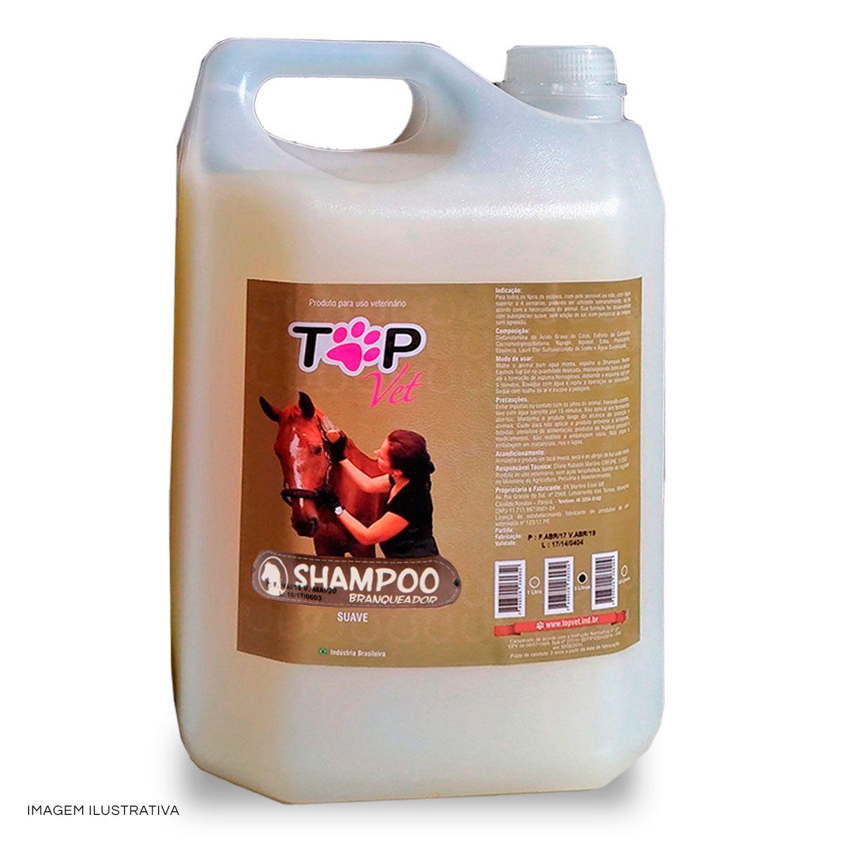 Shampoo Branqueador para Cavalos Top Vet 5L