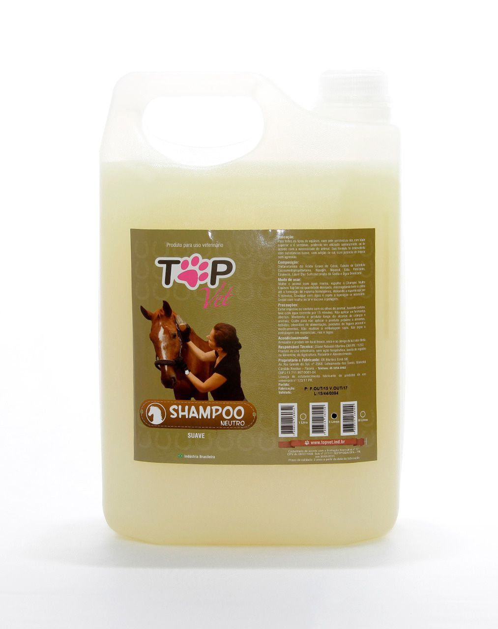 Shampoo Neutro para Cavalos Top Vet 5L