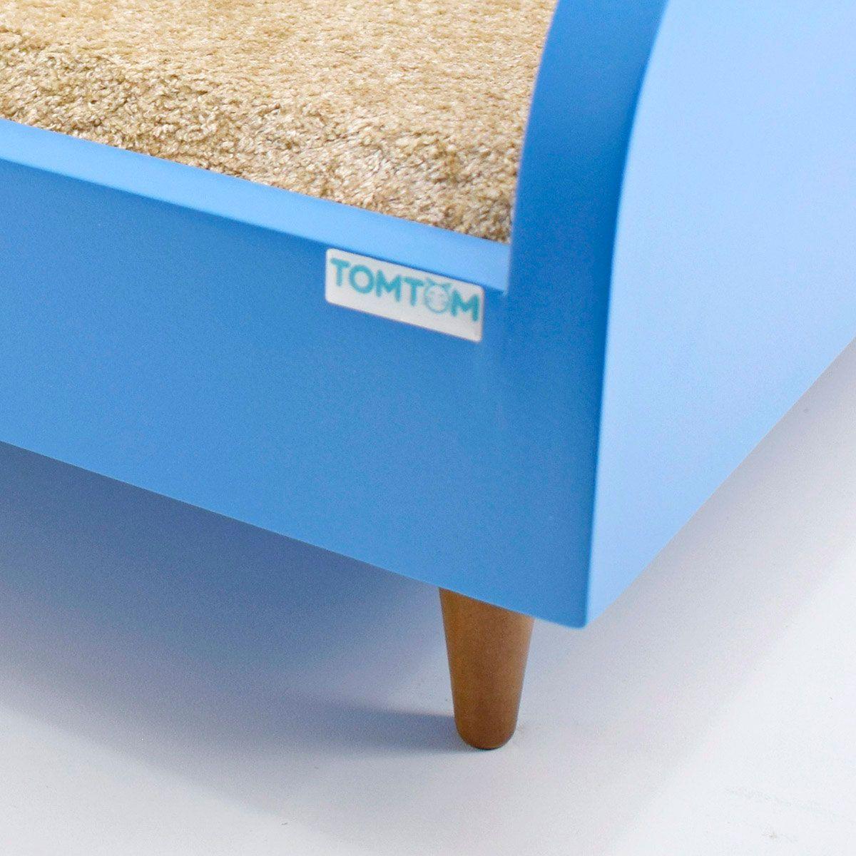 Sofá para Cachorro Médio Tomtom Pet Azul - M