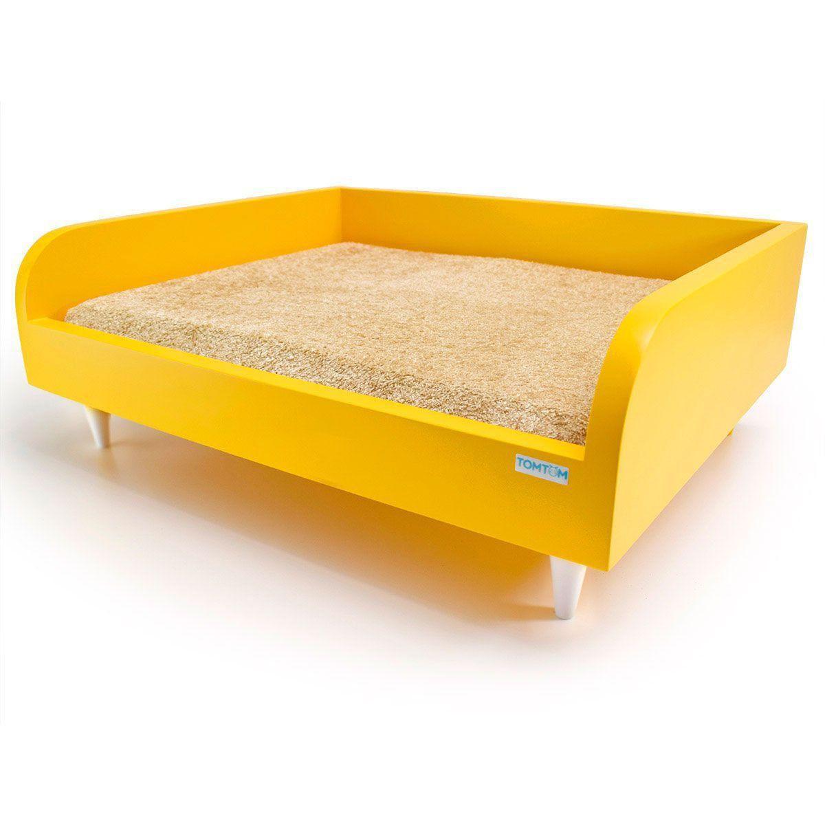 Sofá para Cachorro Pequeno Tomtom Pet Amarelo - P