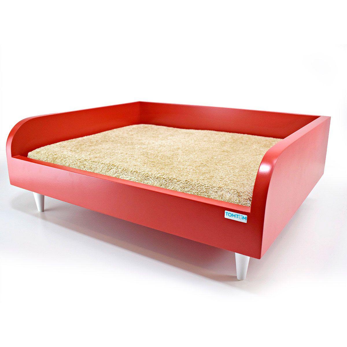 Sofá para Cachorro Pequeno Tomtom Vermelho - M