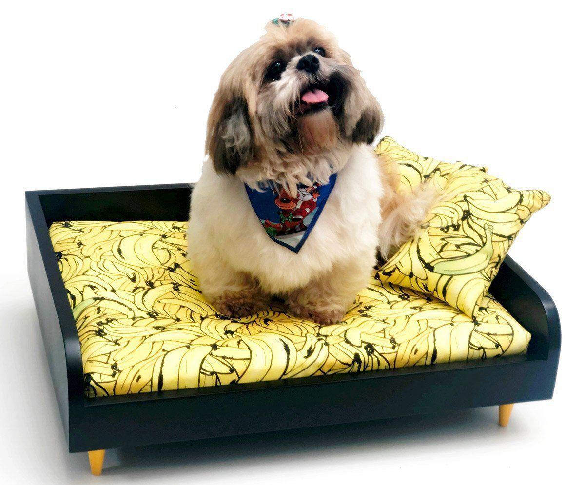 Sofá para Cachorro Tomtom Pet Especial Banana