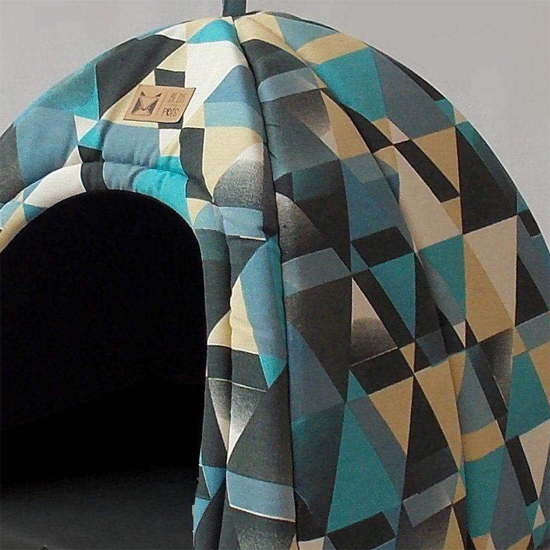 Toca Iglu para Cachorro Posh Blue Beds for Pets