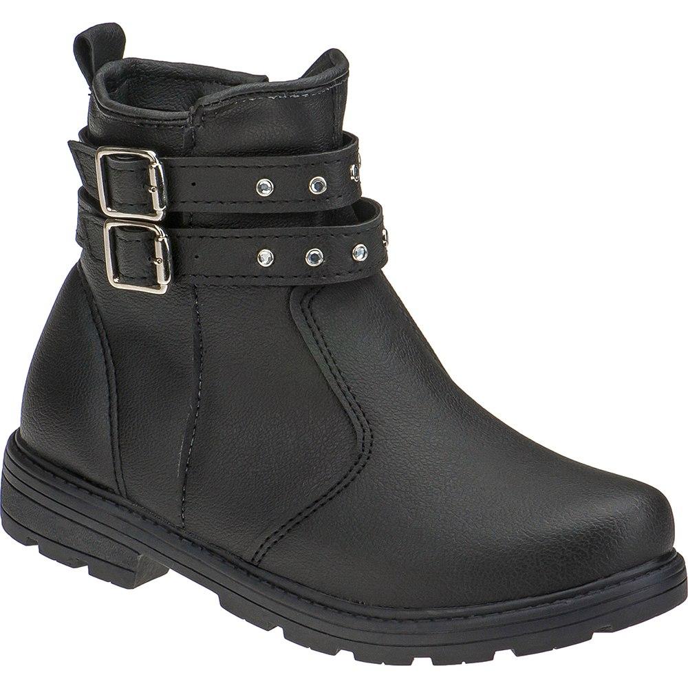Bota Infantil Feminina Cano Curto Ankle Boot Sintético 202.33.009 | Preta