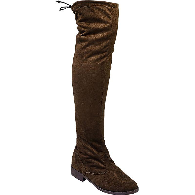 Bota Montaria Over The Knee com Camurça Stretch 103.04.010 | Café