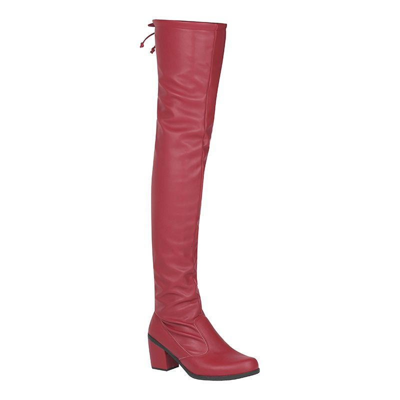 Bota Salto Grosso Over The Knee Napa Stretch 122.04.012 | Vermelho