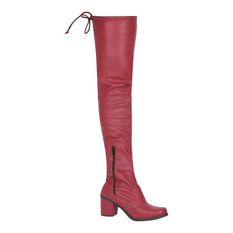 Bota Salto Grosso Over The Knee Napa Stretch 122.04.012 | Vermelho