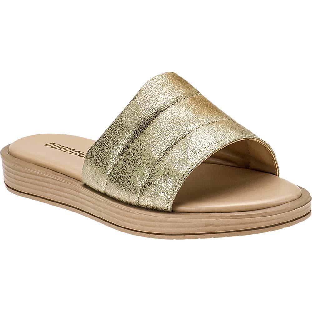 Sandália Chinelo Slide Feminina Domidona 117.05.033 | Dourada
