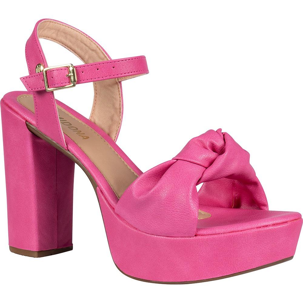 Sandália Domidona Meia Pata Salto Alto Laço 136.01.003   Pink