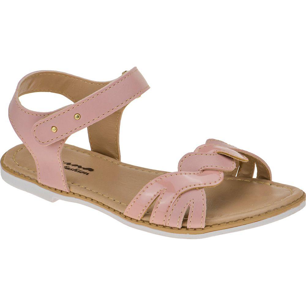 Sandália Infantil Menina Fashion Trançada Rasteira 76.28.041 | Nude