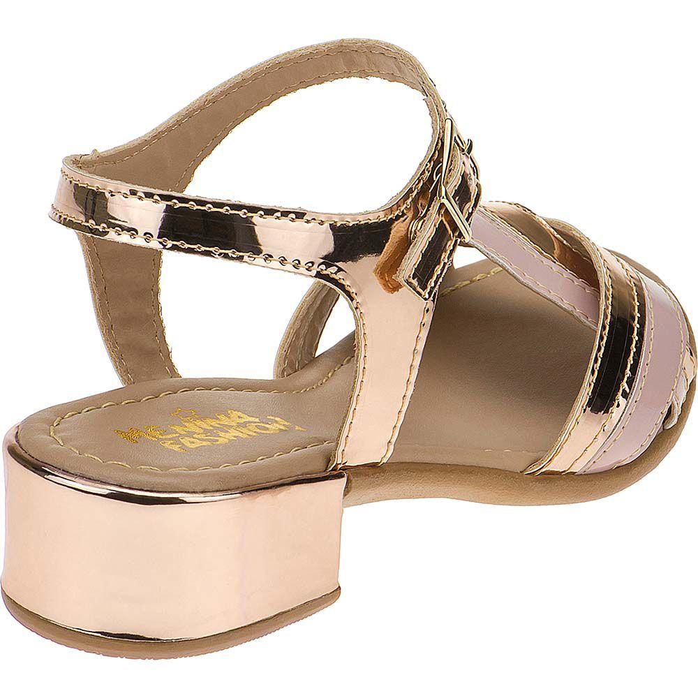 Sandália Infantil Trançado Verniz Dourado 68.54.054 | Cobre