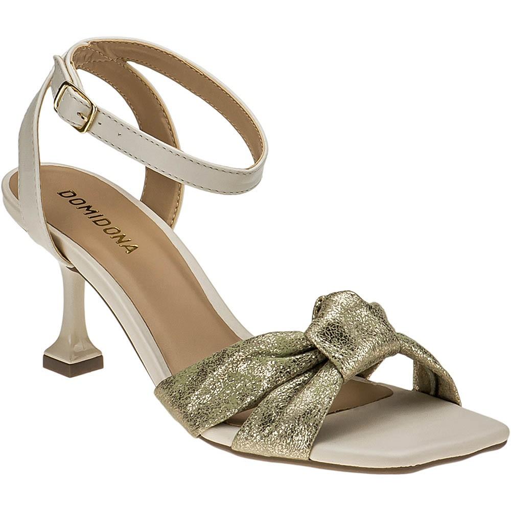 Sandália Salto Taça Tiras Domidona 116.23.033 | Dourada